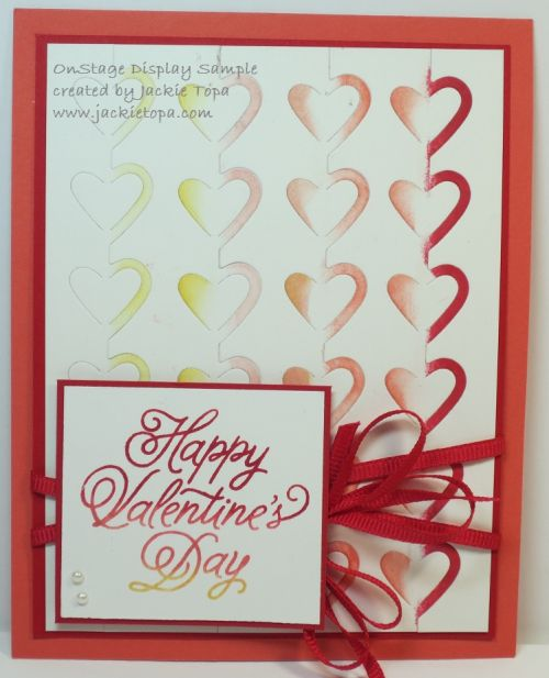 Love Notes Framlits, the Sealed with a Kiss stamp set and the Sending Love Designer Series Paper Stack.: