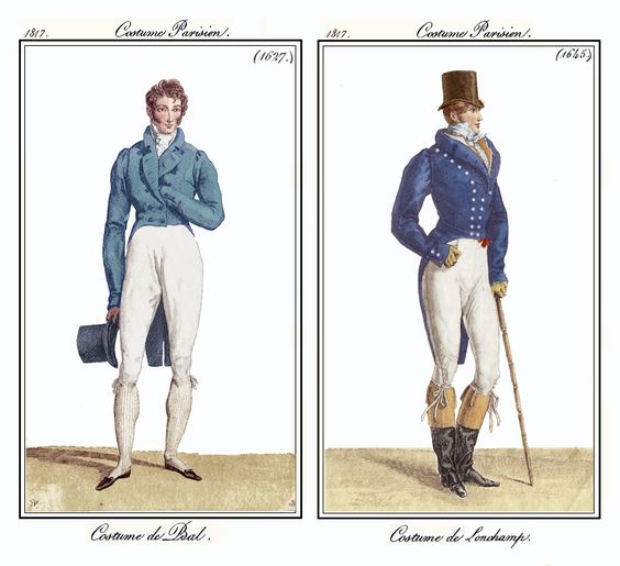 Costume Parisien 1817:
