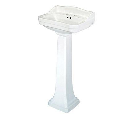 19 Inch Pedestal Sink : ... pedestal lavatory and more faucets pedestal pegasus pedestal sink