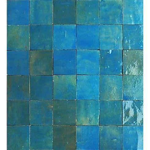 Mosaique Mur Zellige Lazuli 5 X 5 Cm Carreaux Salle De Bain Salle De Bain Carreaux Portugais