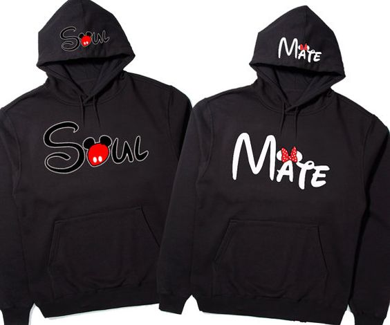 Soul Mate Hoodies Cute couples matching Hoodies by DALEOS on Etsy, $48.00 @Dawn Cameron-Hollyer Parrish Look!! That's the price for both!