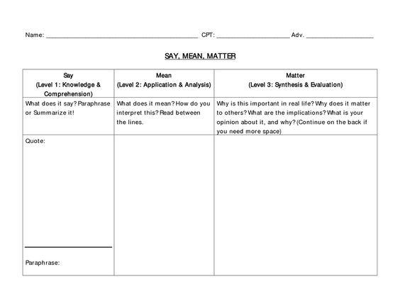 page 1 say mean matter worksheet teacher pinterest worksheets. Black Bedroom Furniture Sets. Home Design Ideas