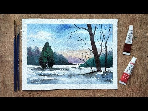 262 Watercolor Painting Landscape Painting Easy Youtube Painting Landscape Paintings Watercolor Paintings
