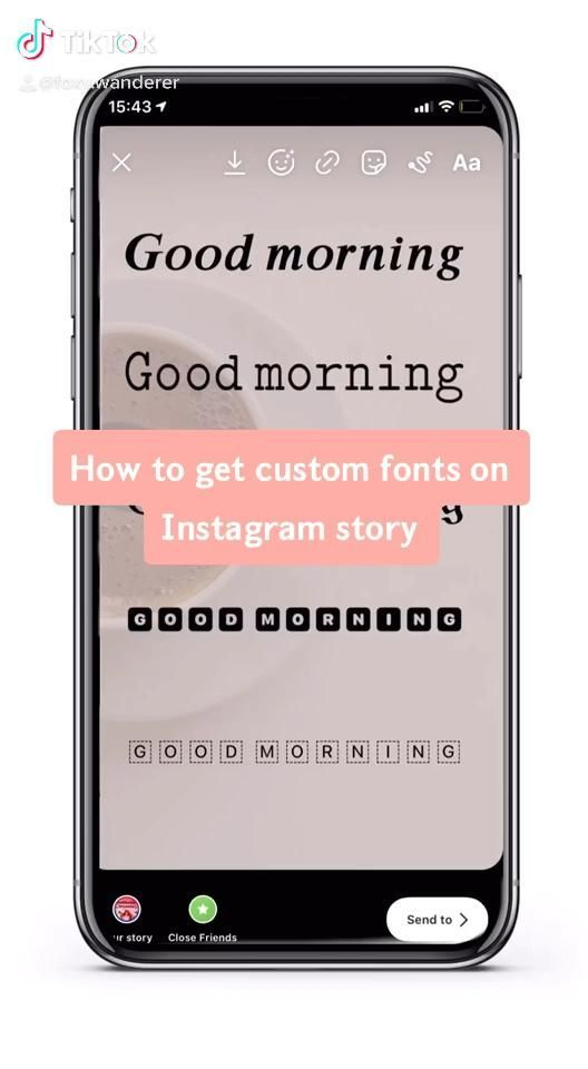 Instagram Story Hack Custom Fonts Different Fonts For Ig Story Edit Like Foxy En 2020 Conseils Instagram Story Instagram Instagram