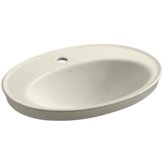 KOHLER Serif Drop-In Vitreous China Bathroom Sink in