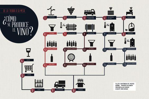 Como se produce el #vino? #Wine Infographics by Francisca Blaauboer, via Behance #vinosmaximum