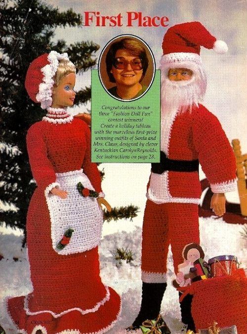 CHRISTMAS Festive Fashion Doll Dress//Crochet Pattern INSTRUCTIONS ONLY