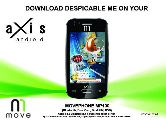 Despicable Me on your AXIS MOVE PHONE