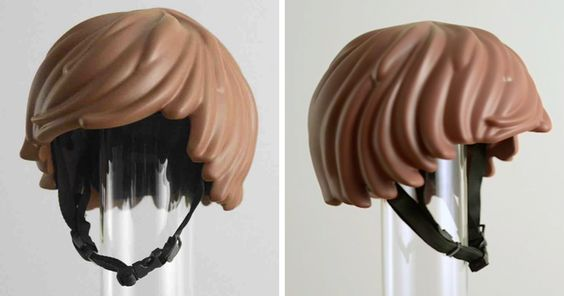 Someone Made A Real-Life LEGO Hair Bike Helmet That Turns You Into A LEGO Figure -   Cyclists are sometimes difficult to spot, but there's no way you'll be able to miss somebody wearing one of these bike helmets. After all, how m...