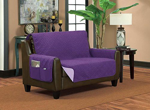 Home Sweet Home Reversible Furniture Protector Purple Sofa Cover Furniture Waterproof Furniture Slipcovers For Chairs