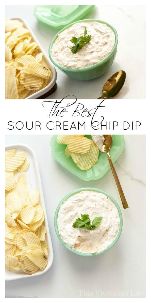 This Sour Cream Chip Dip Is A Classic Snack That Everyone Will Love Gluten Free Dip Sour Cream Sour Cream Chips Sour Cream Chip Dip Sour Cream Dip Recipes