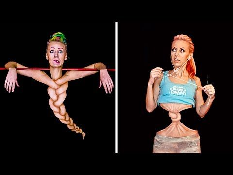 Youtube Amazing Artist She Paints On Herself Mirror Image Ans Upside Down Body Painting Face Painting Tutorials Body Art Painting