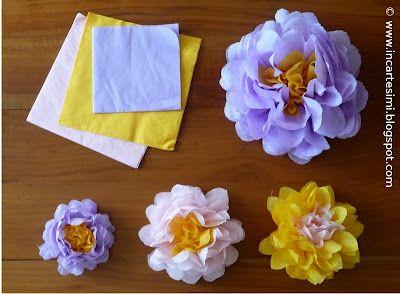 IncaRtesimi: fiori con tovaglioli di carta