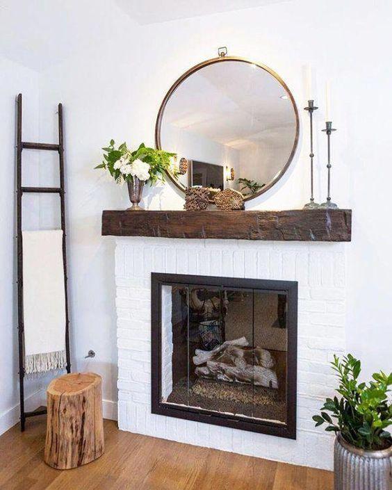 Hoop Mirror | Round Mirrors | Living room ideas #livingroomideas