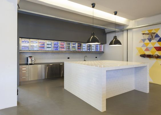 red bull - berlin - loft style - office - kitchen area - show ... | {Büroküche 73}