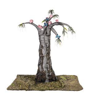 165cm x 150 x 90 (5 1/2ft x 5 x 3) #ButterflyRainforest #wirecrochet #artinstallation #studiodeanna #fiberart #CairnsBotanicGarden #crochet #fibreart #coloredcopperwire #firemtngems #crochetwire