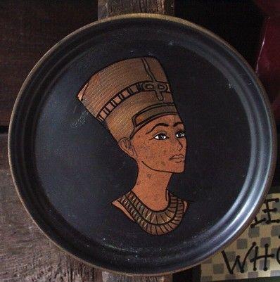 Egyption Wall Decor Plate by VintageChicsResale on Etsy, $10.00