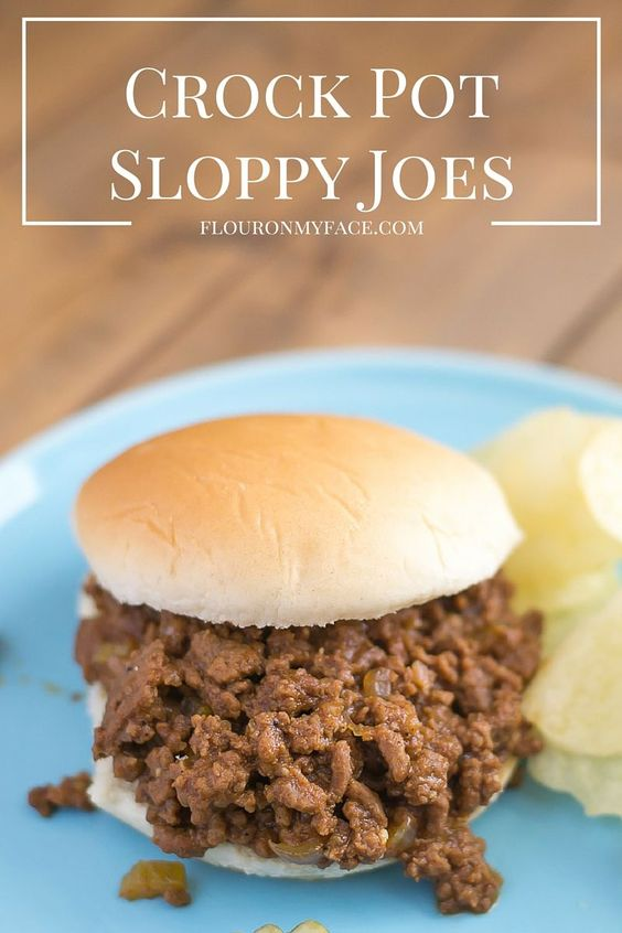 Crock pot, Pots and Sloppy joes recipe on Pinterest