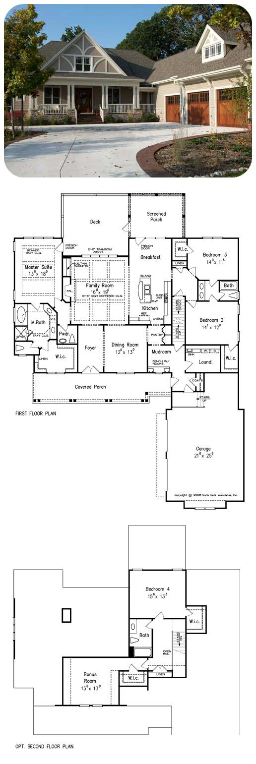 Betz house plans with large kitchen frank house plans designs ideas - Blenheim A Frank Betz Plan The Blenheim With Its Tudor Styled Elevation Of Mainly Courtyard House