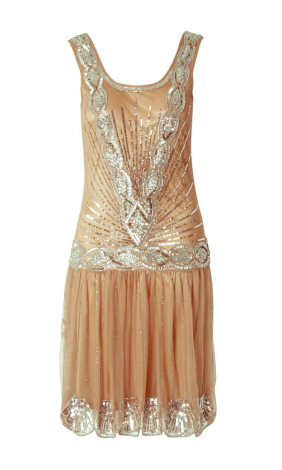 Frock And Frill Flapper Embellished Dress