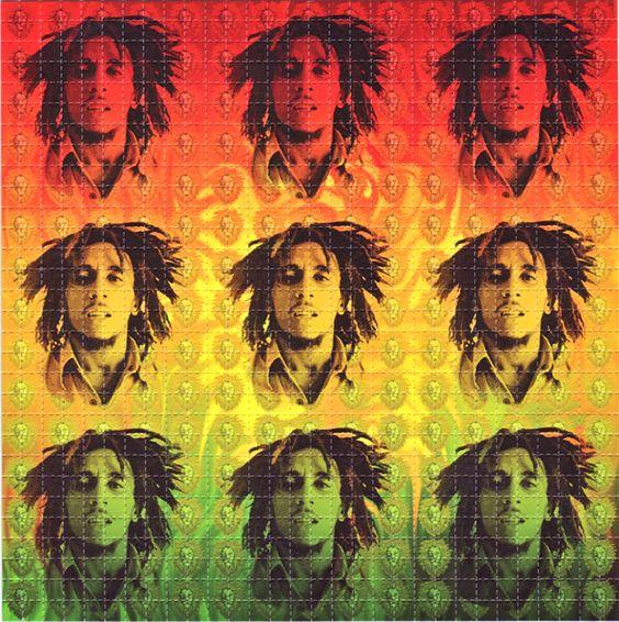 Bob Marley LSD Blotter Art