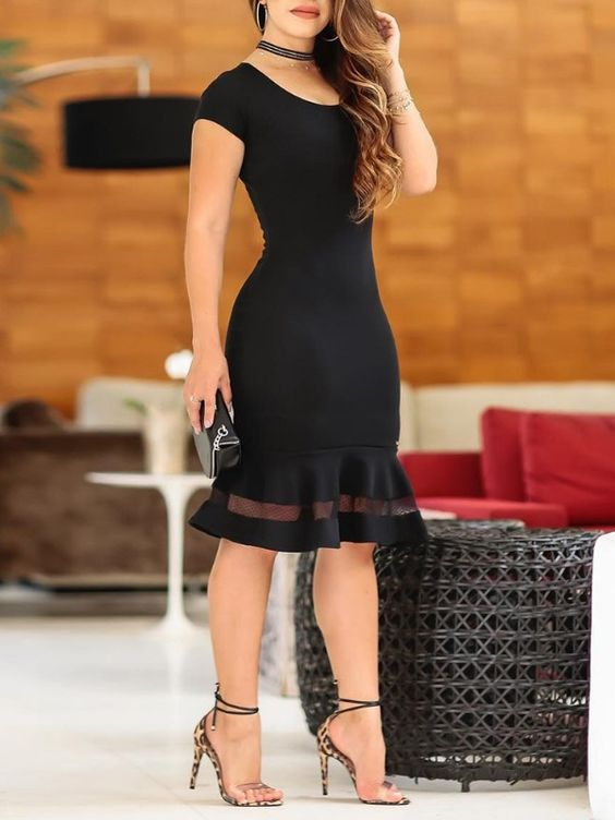 Stylish  Dresses With Ruffles outfit fashion casualoutfit fashiontrends