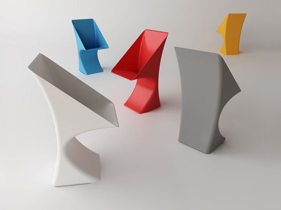 funnel chair by jarvie pp plastic rotational molding