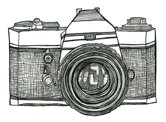 camera drawing retro - Google Search:
