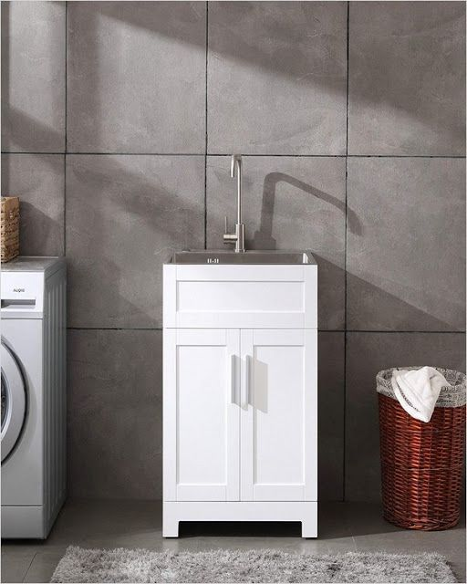 Laundry Room Sink Cabinet Ideas This Glacier Bay Utility Sink