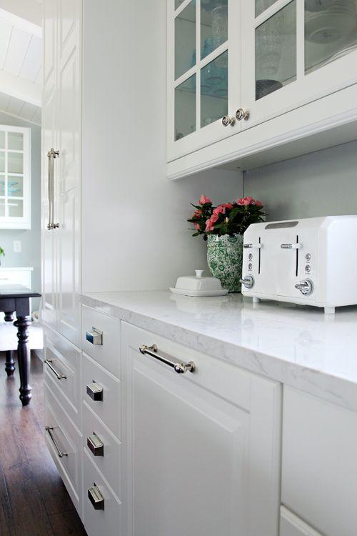 Quartz Countertops   Cambria In Torquay Finish, Ikea Cabinets, Glass Faced  Upper Cabinets, Dark Wood Floors   Kitchen Ideas   Pinterest   Ikea  Cabinets, ...