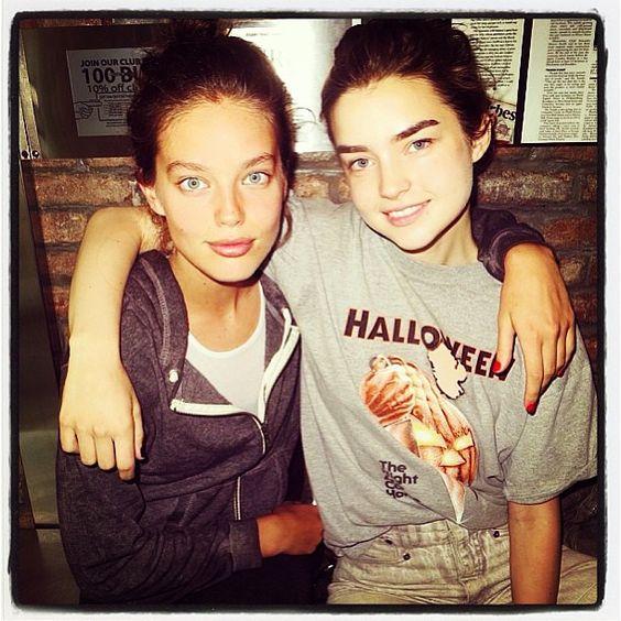 American models Emily DiDonato and Ali Michael