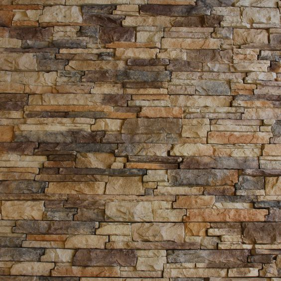 Neat Chiselled Edge Model of Faux Stacked Stone Wall Panels from