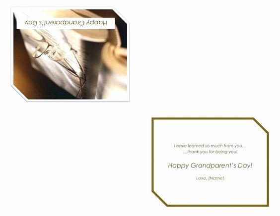 50 Beautiful Quarter Fold Greeting Card Template In 2020 Greeting Card Template Grandparents Day Cards Happy Grandparents Day