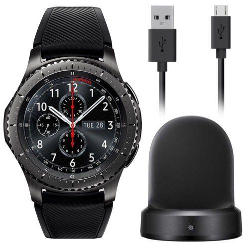 Samsung Gear S3 Frontier Smartwatch 46mm Att 4g Lte Dark Grey Smr765a Certified Refurbished Large You Luxury Watches For Men Smart Watch Minimalist Watch