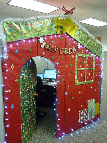 CUBICLE CHRISTMAS DECORATIONS | More Decorations - christmas work cubicle holiday workcube officespace ...