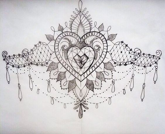 I would like this for a lower back design, its just a bit too fussy