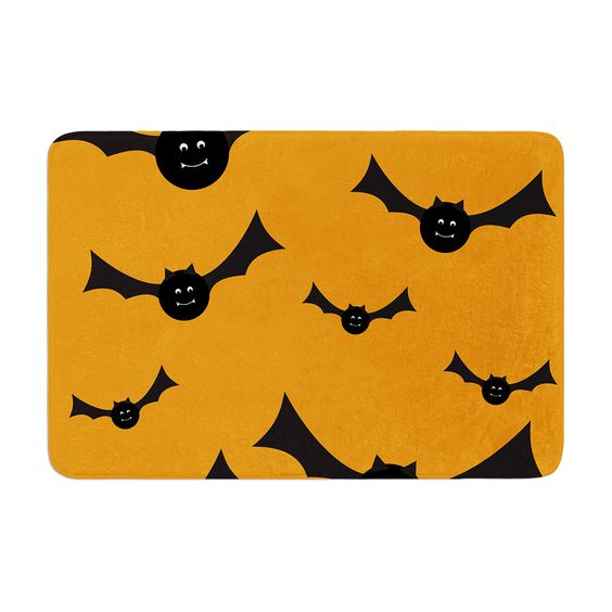 "KESS Original ""Going Batty"" Memory Foam Bath Mat"