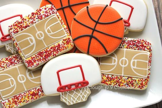 basketball cookies                                                                                                                                                      Más: