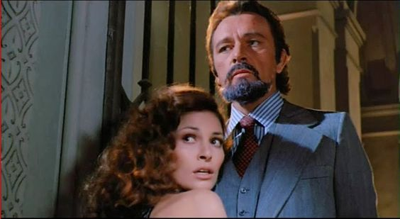 "Raquel Welch and Richard Burton in ""Bluebeard"" 1972 (829×455)"