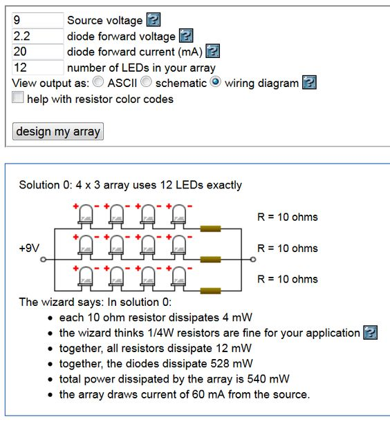 Resistor Array Calculator 28 Images Led Series