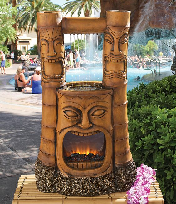 Water Fountains Tropical Centerpieces And Fire On Pinterest