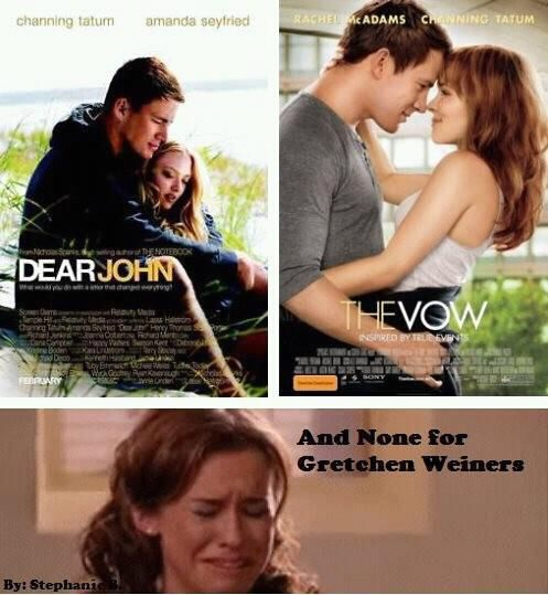 This is what happens when I go to see the vow and then come home and watch mean girls.
