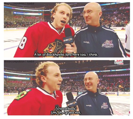 No love for the Hawks in Columbus but I still love you Kaner!!