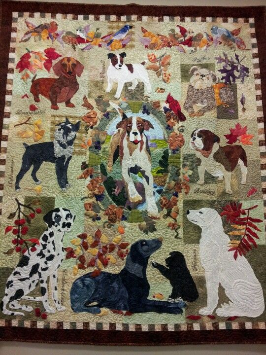 Dog quilt....beautiful!: