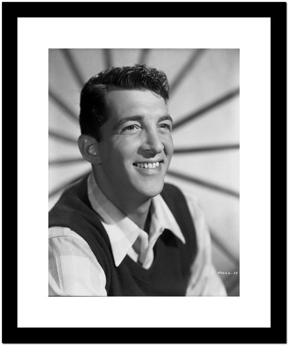 Dean Martin and Jerry Lewis wearing Black Vest and White Sleeves Premium Art Print