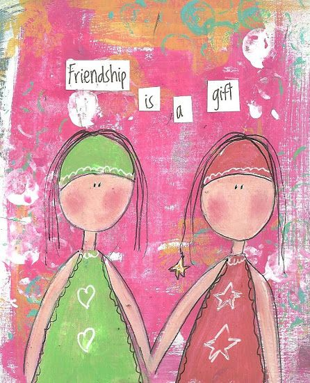 Friendship is a Gift.  Thank you for your friendship!  Creative Healing for Women.  Image -  Debbie Crews