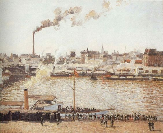 Camille Pissarro (French, 1830-1903),View of Rouen, 1898, oil on canvas.