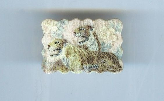 Tiger Brooch by design mosaic. Made from polymer clay. #handmade #jewelry