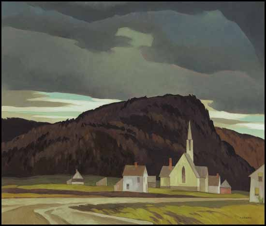 """""""The Village of Madawaska,"""" Alfred Joseph (A.J.) Casson, oil on board, 24 x 28"""", private collection."""