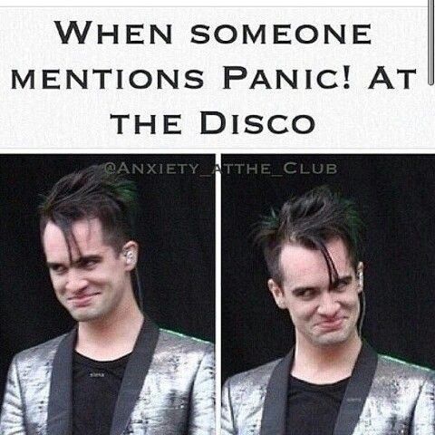 *bursts through wall* DID SOMEONE SAY PANIC! AT THE DISCO